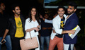 Varun Dhawan, Shraddha Kapoor & Arjun Kapoor snapped at the domestic airport