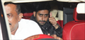 Abhishek Bachchan snapped post 'Jazbaa' screening
