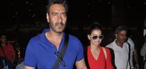 Ajay & Kajol Snapped With Kids Returning Back From Vacations