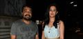 Anurag Kashyap and Deeksha Seth snapped at Bombay Velvet Screening
