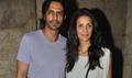 Arjun And Mehr Rampal At Roy Screening