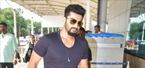 Arjun Kapoor snapped at the domestic airport