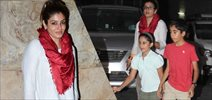Raveena Tandon Snapped With Kids At Bangistan Screening