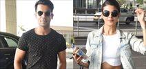 Jacqueline, Rajkumar Rao Depart For AIBA In Dubai