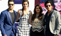 Shah Rukh Khan, Kajol, Kriti Sanon And Varun Dhawan At Dilwale Media Meet In Delhi
