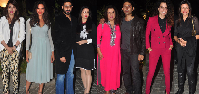 Celebs At Farah Khan's Birthday Bash At Her House In Andheri
