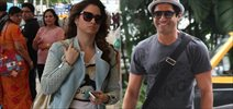 Farhan Akhtar & Tamannaah Snapped At Domestic Airport