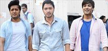 The cast Snapped On The Sets Of Great Grand Masti At Mehboob Studio