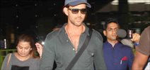 Hrithik Roshan Snapped At International Airport Terminal