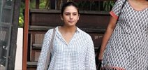 Huma Qureshi snapped in her de-glam avatar