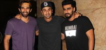 Ranbir, Katrina, Alia, Arjun & Aditya at Inside Out Screening