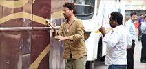 Irrfan Khan snapped in suburbs