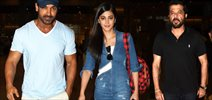 John, Anil And Shruti Return From Welcome Back Delhi Promotions