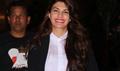 Jacqueline Fernandez Returns From Dubai Roy Premiere