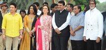 Amitabh Bachchan And Sachin Tendulkar At The Launch Of Jio Garden By Reliance