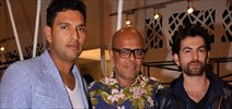 Yuvraj Singh and Neil at Narendra Kumar Ahmed Store Launch