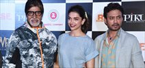 Piku first look launch with Amitabh Bachchan, Irrfan and Deepika