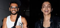 Ranveer Deepika snapped post pack up at Ad shoot