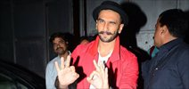 Ranveer Singh snapped on the sets of 'Bajirao Mastani'