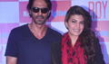 Jacqueline Fernandez And Arjun Rampal At Roy Movie Promotions
