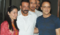 Sanjay Dutt Snapped With Vidhu Vinod Chopra At His Home Post His Return From Jail On A Parole