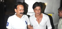 Shahrukh Khan snapped with Baba Siddiqui in Bandra