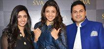 Kajal Agarwal, Karishma Tanna, Daisy Shah at Sonam and Paras Modi's SVA store for Summer 2015 launch