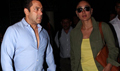 Salman, Kareena Return From Delhi Bajrangi Bhaijaan Promotions