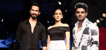 Shahid, Mira Rajput & Sooraj Pancholi walk the ramp for Masaba Gupta at Lakme Fashion Week 2015