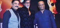 Shamitabh Music Launch With Big B, Kamal And Rajnikant