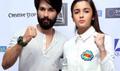 Alia Bhatt And Shahid Kapoor At Shandaar Media Meet In Delhi