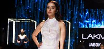 Shraddha Kapoor walks for Namrata Joshipura at Lakme Fashion Week 2015