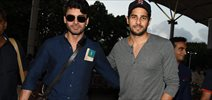 Sidharth Malhotra & Fawad Khan Snapped Together Enroute To Coimbatore For Kapoor & Sons Shoot