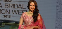 Sonakshi Sinha Unveils BMW 6 Series Gran Coupe At India Bridal Fashion Week Announcement