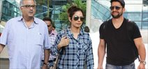 Sridevi & Aftaab Snapped At Domestic Airport