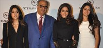 Sridevi And Family At Stefano Ricci Launch In India