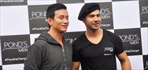 Varun Dhawan & Bhaichung Bhutia shoot for Ponds campaign
