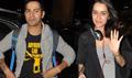 Varun Dhawan And Shraddha Kapoor Leave For AIBA