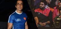 Abhishek Bachchan and Sonu Sood at Pro Kabaddi League match