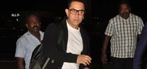 Aamir Khan goes to the USA snapped at airport