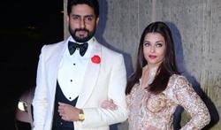 Abhishek Bachchan and Aishwarya Rai Bachchan grace Manish Malhotra's 50th birthday bash hosted by Karan Johar - Pictures