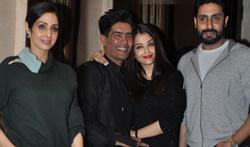 Abhishek Bachchan, Aishwarya Rai Bachchan & Sridevi grace Manish Malhotra's birthday bash - Pictures