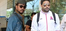 Abhishek And Irfan Khan Snapped At Domestic Airport
