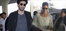 Aditya And Katrina Depart For Fitoor Delhi Promotions