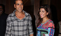 Akshay And Nimrit Snapped At Airlift Promotions