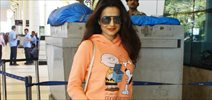 Ameesha Patel Snapped At Domestic Airport