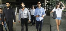 Abhishek Bachchan, Sunil Shetty, Dino Morea and Amy Jackson snapped at airport