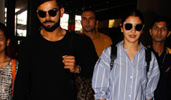 Anushka Sharma and Virat Kohli snapped at the airport - Pictures
