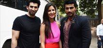 Arjun Kapoor Has Fun With Aditya And Katrina Kaif During Fitoor Promotions