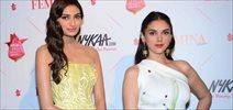 Athiya Shetty & Aditi Rao Hydari at Nykaa.com Femina Beauty Awards 2016